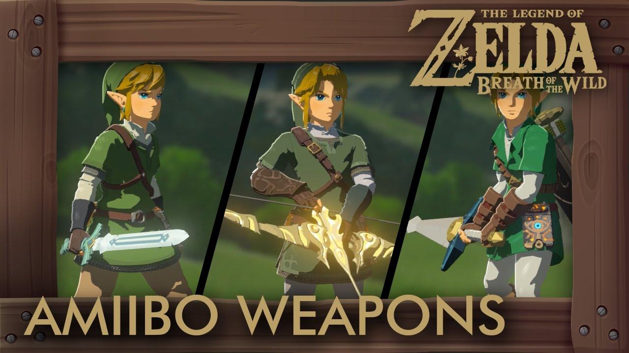 Zelda Breath of the Wild - All Amiibo Weapons