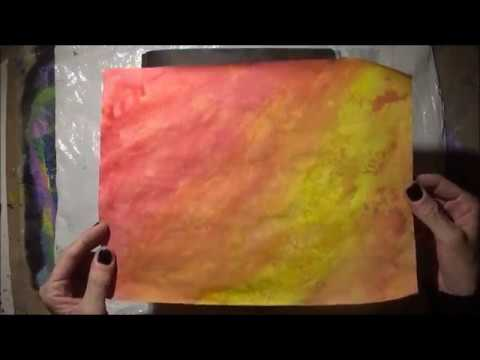 Staining Paper with Acrylic Paint