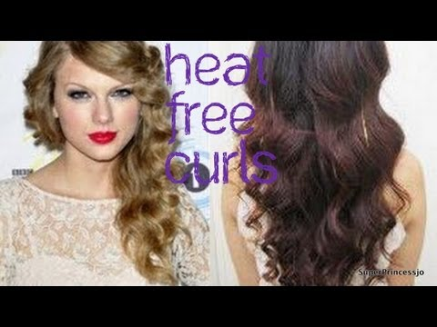hairstyle heat free curls