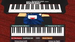 Reloj - Billie Eilish (ROBLOX PIANO)(SHEETS IN DESCRIPTION)