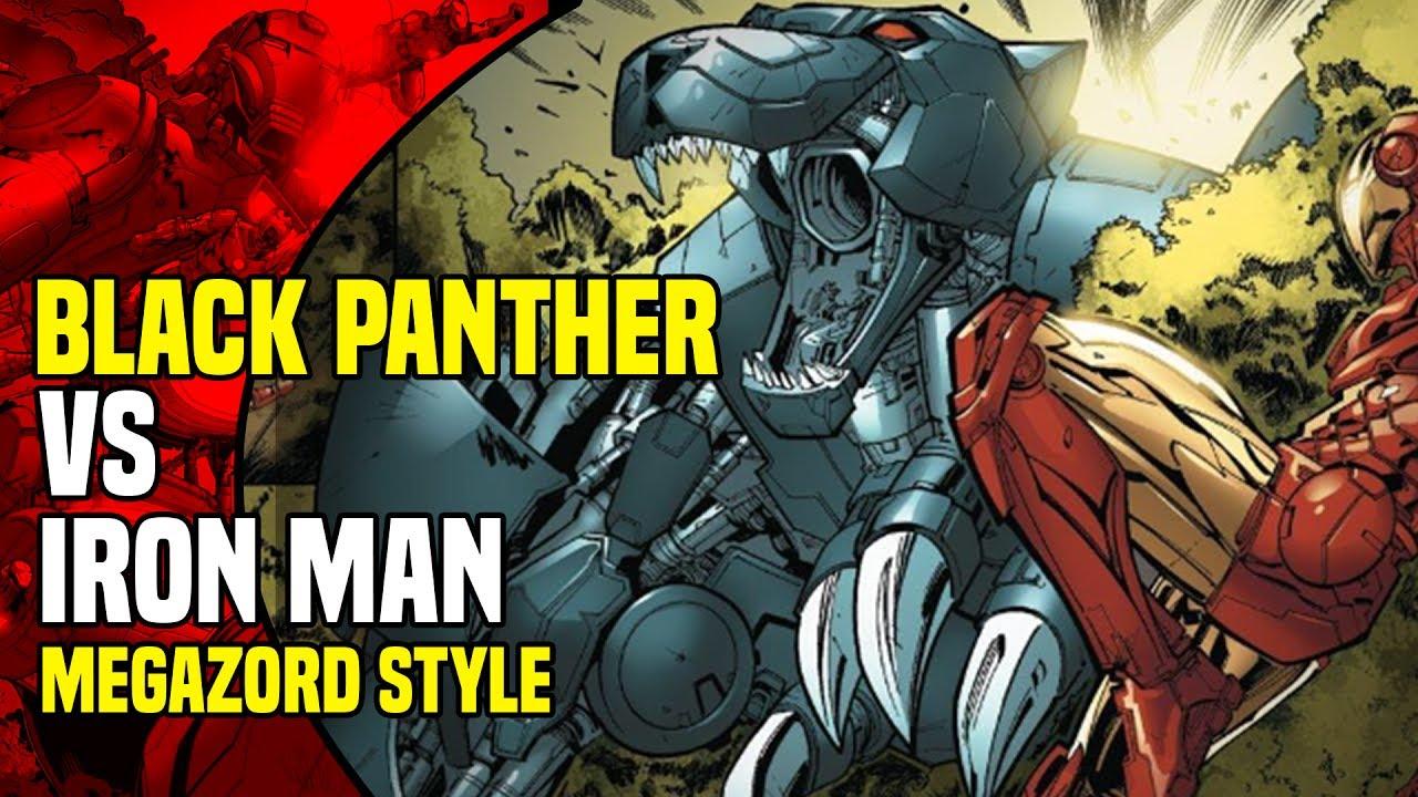 Black Panther: Black Panther vs Iron Man Megazord Style ... - photo#27