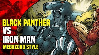 Black Panther: Black Panther vs Iron Man Megazord Style