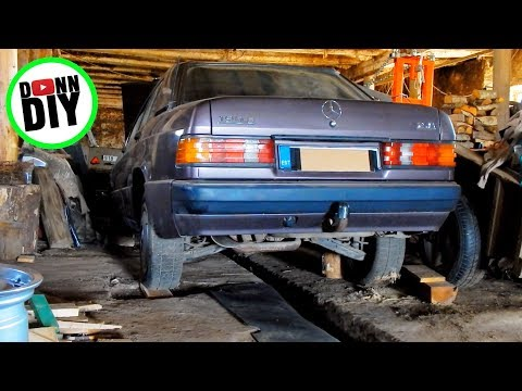 Mercedes-Benz 190E Start After Two Years Of Sitting