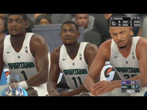 NCAA 2K17 College Basketball - The Washington Huskies Vs The Michigan State Spartans