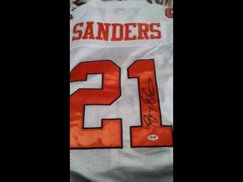 Barry Sanders Autographed Oklahoma State Football Jersey PSA/DNA COA Detroit Lions