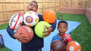 MULTI BALL SLIP & SLIDE CHALLENGE! VS BRO