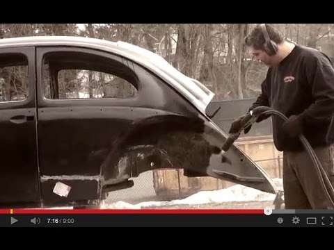 Vintage Vw Parts >> Classic VW BuGs How to Dustless Media Water Blasting ...