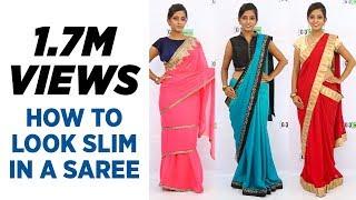 How to wear saree to look Slim - Updated 3 New Saree Draping Ways