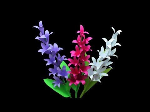 How to Make Tuberose Stick paper Flower Paper Stick Flowers Ideas - easy Tuberose flower Tutorial
