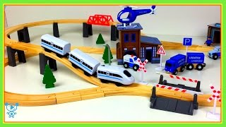 Trains for children video Playing with trains for kids toy trains video train like brio wooden train
