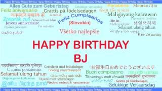BJ   Languages Idiomas - Happy Birthday