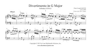 Haydn : Divertimento - Sonata in G Major, Hob. XVI:G1 (I : Allegro)