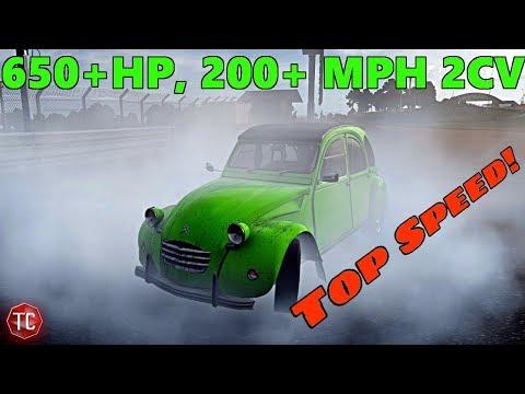 Forza Motorsport 7: 650+ Horsepower, AWD, Turbo 2CV!! Top Speed Runs!