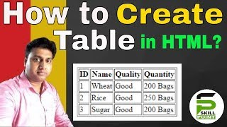 How to Create Simple Table in HTML | Creating Simple Table in HTML Mp3