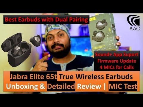 Jabra Elite 65t Earbuds,Dual Pair,Ambience Mode,AAC,Firmware Update,15 hr Music | Detailed Review