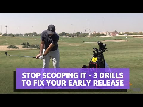 STOP SCOOPING IT - 3 DRILLS TO FIX YOUR EARLY RELEASE