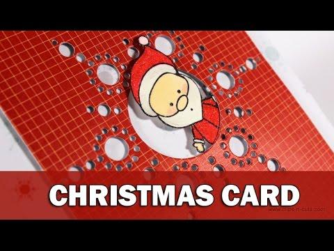 Christmas Card   CAS October kit video hop