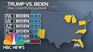 Trump Trails Biden In Battleground States In Latest Polls | Meet The Press