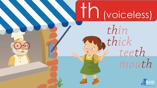 Th (voiceless) Th (voiced) - 1 | Sound Different | Go Phonics 4A Unit 3 | EFL
