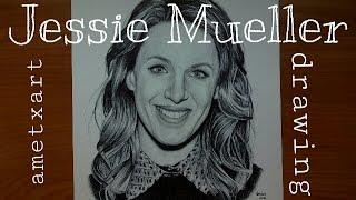 Jessie Mueller drawing - Ametxart