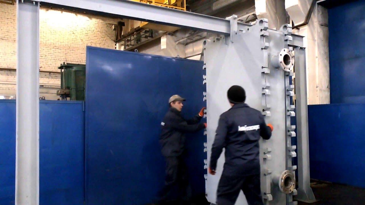 Опрессовка теплообменника пластинчатого видео Пластинчатый теплообменник Alfa Laval M15-BFL Калининград