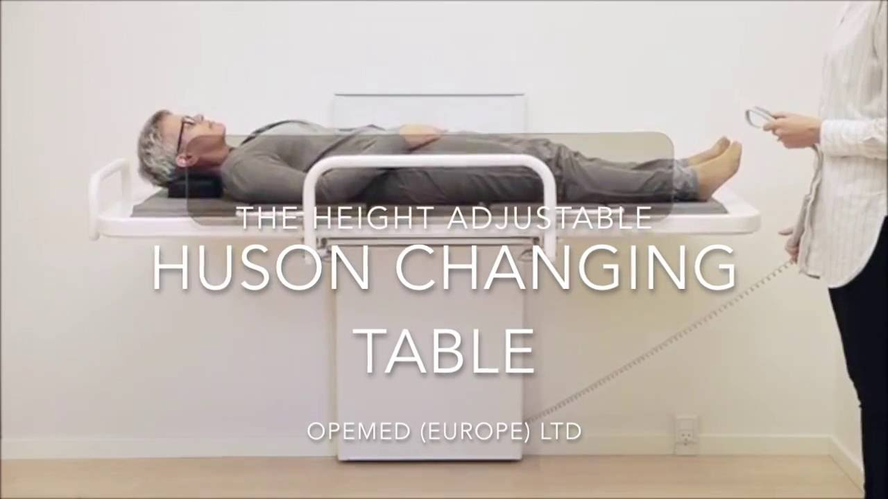 Hudson Height Adjustable Changing Table YouTube - Adjustable changing table