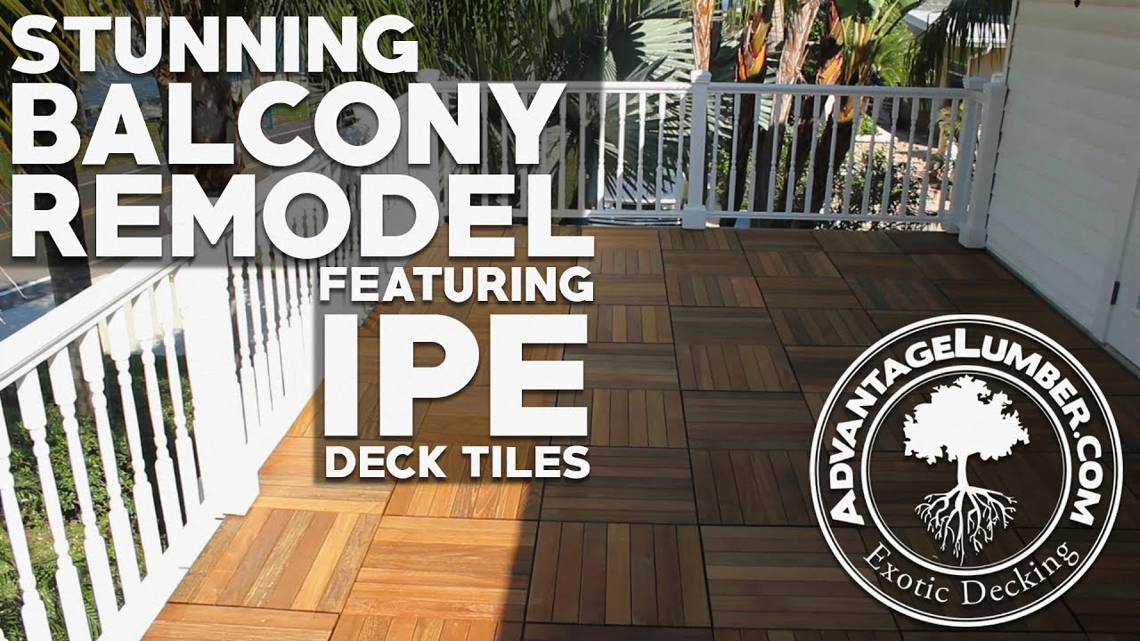 Stunning balcony remodel featuring ipe deck tiles youtube dailygadgetfo Choice Image