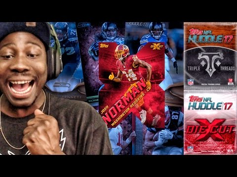 RARE CARDS IN PACK OPENING! Topps NFL Huddle 17 Card Trader Ep. 1