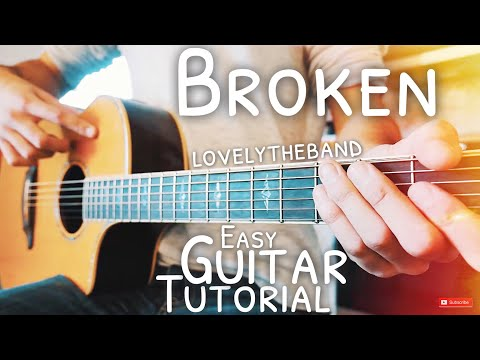 Mix - Broken lovelytheband Guitar Lesson for Beginners // Broken Guitar // Guitar Tutorial #566