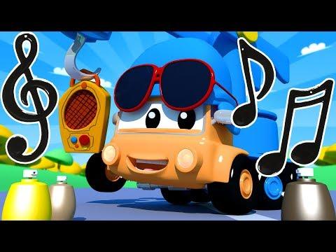 Die Lackierwerkstatt von Tom dem Abschleppwagen: Charlie der Kran ist POCOYO | Lastwagen Cartoons