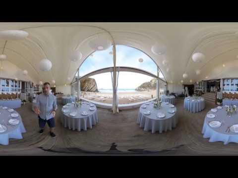 360-degree tour of Lusty Glaze Beach Weddings