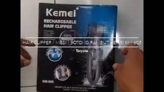 Hair Clipper and Cleaning step KEMEI KM-605