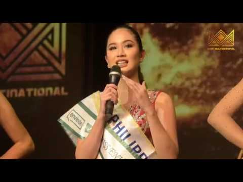 Miss Multinational 2017 Top 5 Question and Answer Round