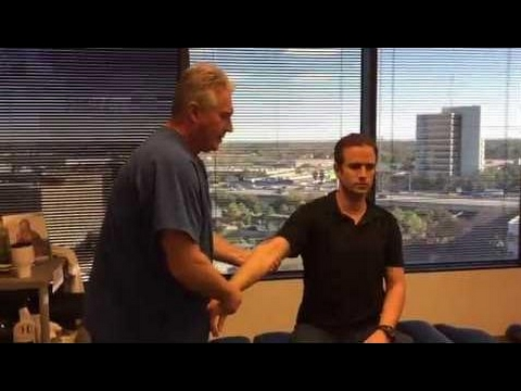 physical therapy -  German Patient Adjusted By America's Chiropractor Dr Johnson After Australia's