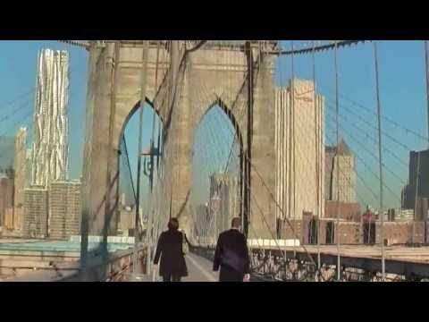 A walk over the Brooklyn Bridge, New York, 2nd November 2011