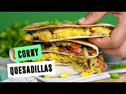 Corny Quesadillas | SO VEGAN