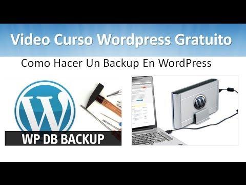 17 Tutorial WordPress - Como Hacer Un Backup En WordPress - YouTube