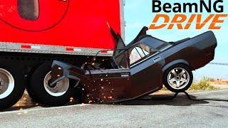 ВОЗМОЖНО ЛИ ВЫЖИТЬ, ЕСЛИ ЗАЛЕТЕТЬ ПОД ФУРУ НА СОВЕТСКОМ АВТОМОБИЛЕ - BeamNG.drive
