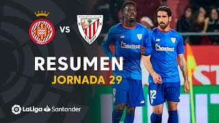 Resumen de Girona FC vs Athletic Club (1-2)