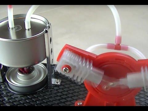 Stirling Engine | Twin Live Steam Engine Model Kit + Led Generator Learning Equipment