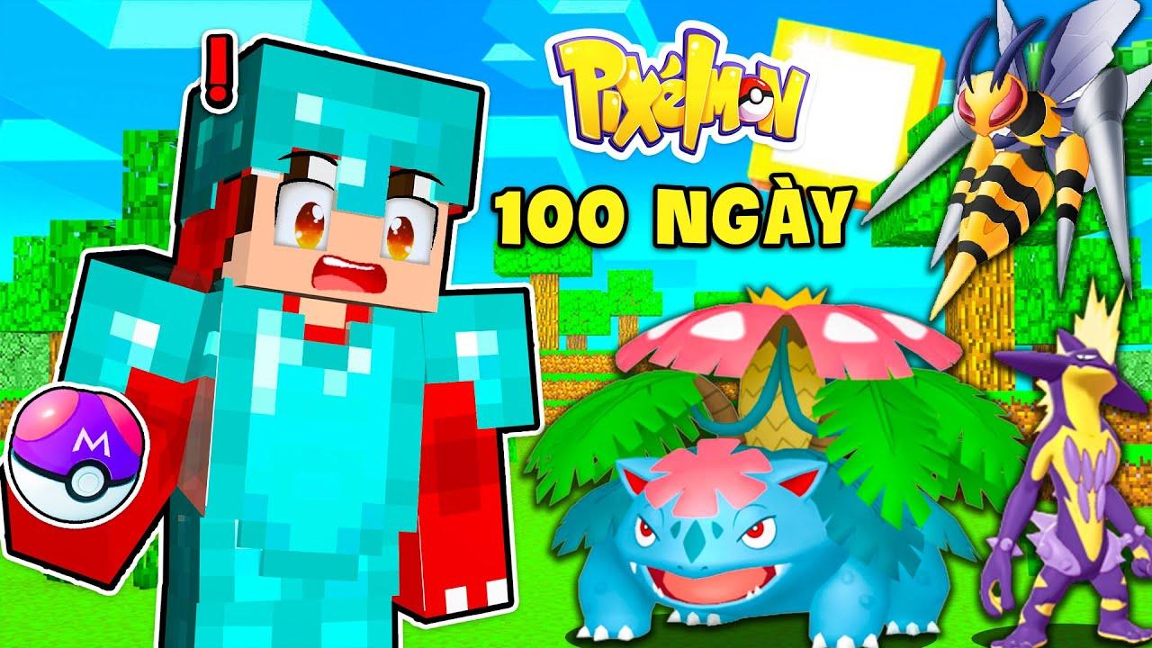 100 Ngày Sinh Tồn Trong Minecraft Pixelmon Nhưng Chỉ Bắt Pokemon Hệ Độc Của Rex Sẽ Như Thế Nào ??