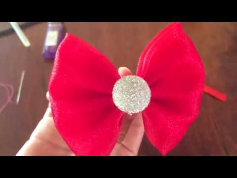 Super Easy To Make  Ribbon Hair Bow from Fabric DIY supreme