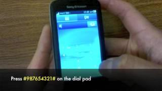 How to Unlock Sony Ericsson TXT Pro CK15a, CK15i by Unlock Code