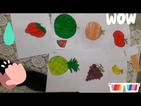 Drawing Fruits Easy