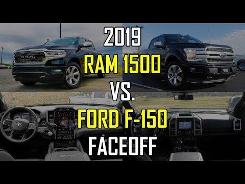 2019 RAM 1500 Limited vs. 2018 Ford F-150 Platinum: Faceoff Comparison