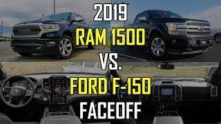 2019 RAM 1500 Limited vs. 2018 Ford F-150 Platinum: Faceoff Comparison