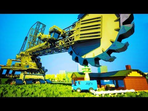BIGGEST EXCAVATOR EVER MADE DEMOLISHES HOUSE OF LEGO BRICKS - Brick Rigs Workshop Creations Gameplay