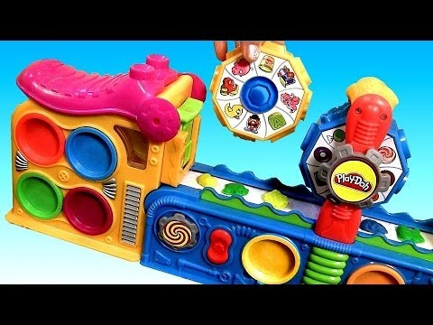 Thumbnail: Play Doh Mega Fun Factory Machine Conveyor Toy Play Dough Mega Fábrica Loca by DisneyCollector
