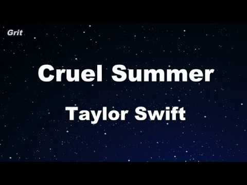 cruel-summer---taylor-swift-karaoke-【no-guide-melody】-instrumental