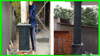How To Install Ceramic Tiles On The House Column